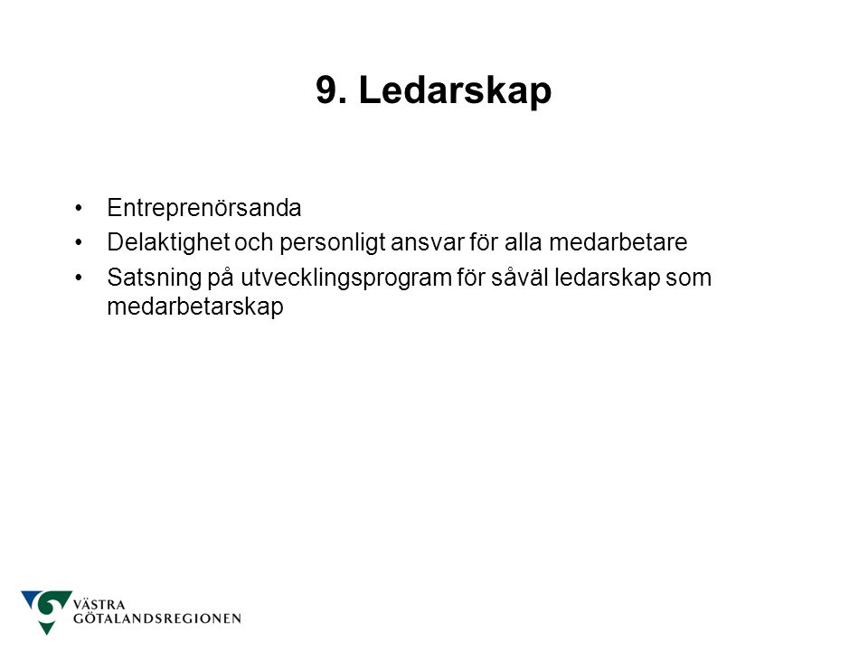 9. Ledarskap Entreprenörsanda