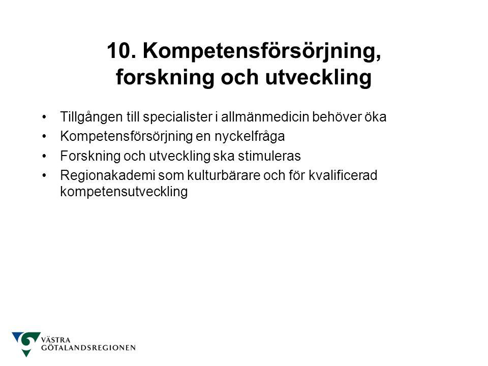 10. Kompetensförsörjning, forskning och utveckling