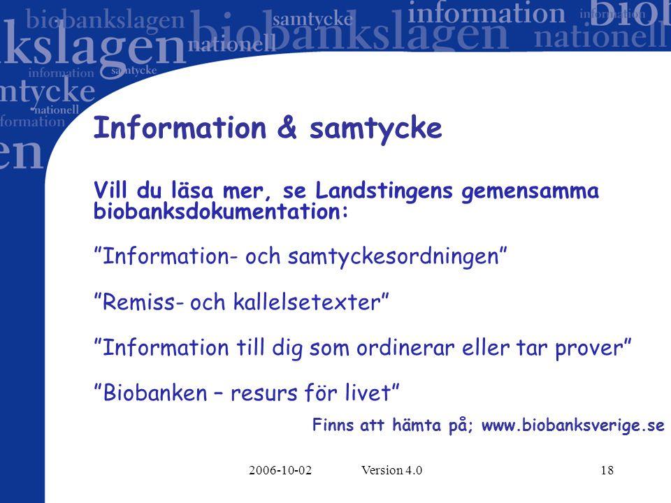 Information & samtycke