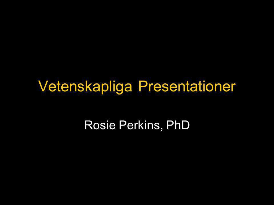 Vetenskapliga Presentationer