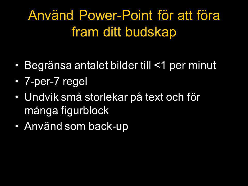 Använd Power-Point för att föra fram ditt budskap