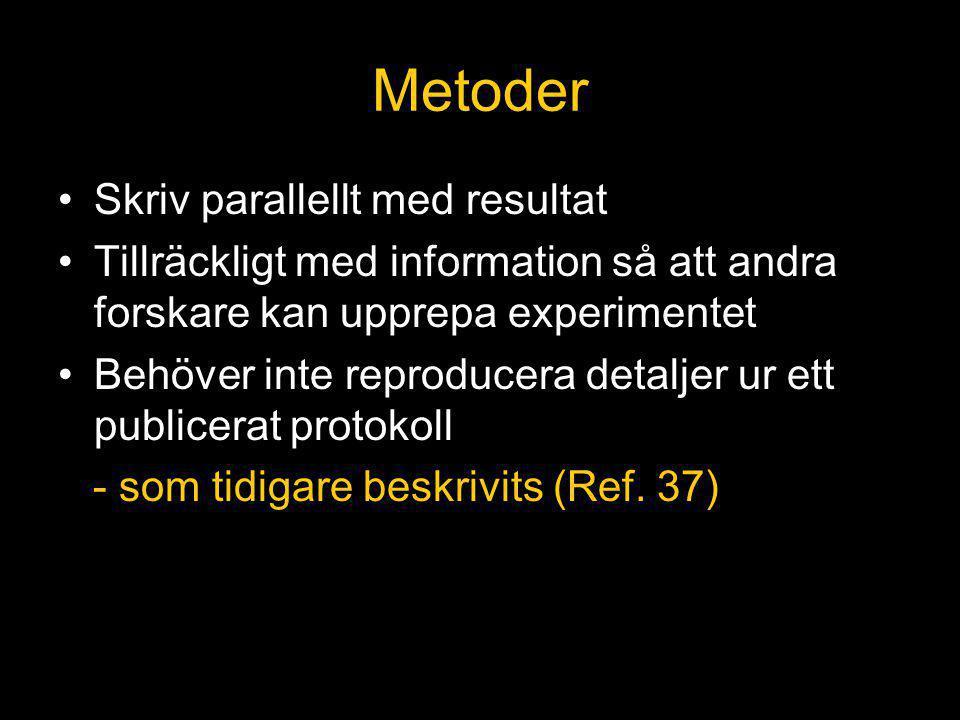 Metoder Skriv parallellt med resultat