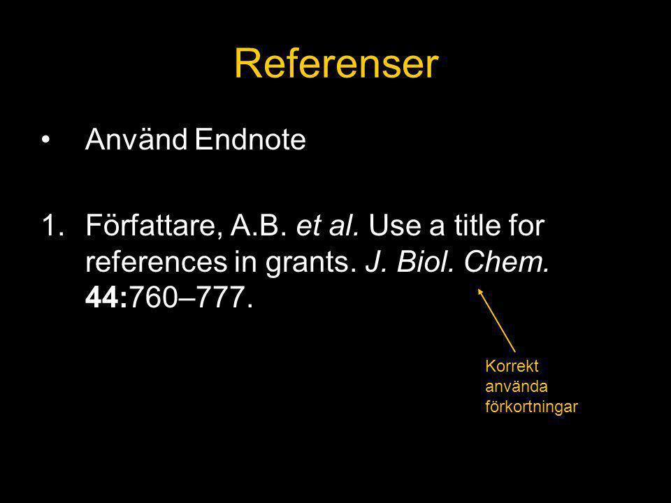 Referenser Använd Endnote