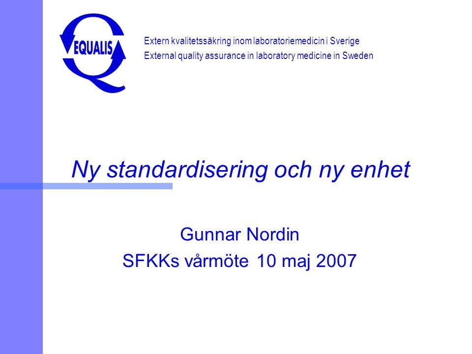 Ny standardisering och ny enhet