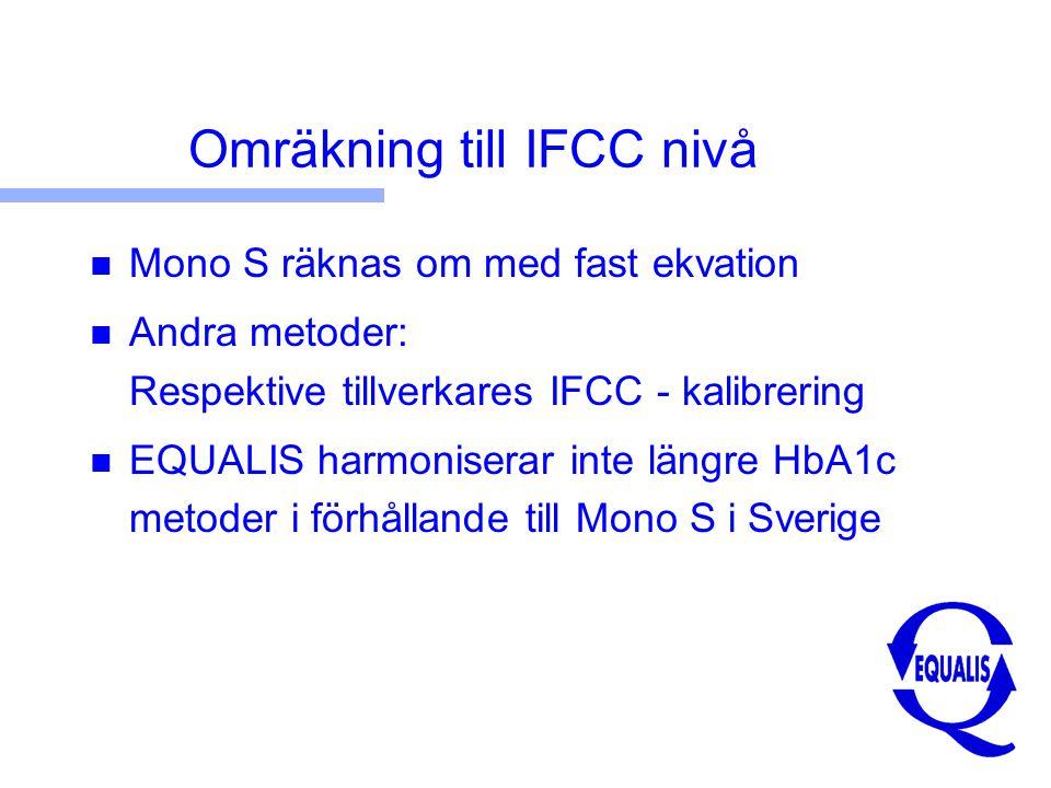 Omräkning till IFCC nivå