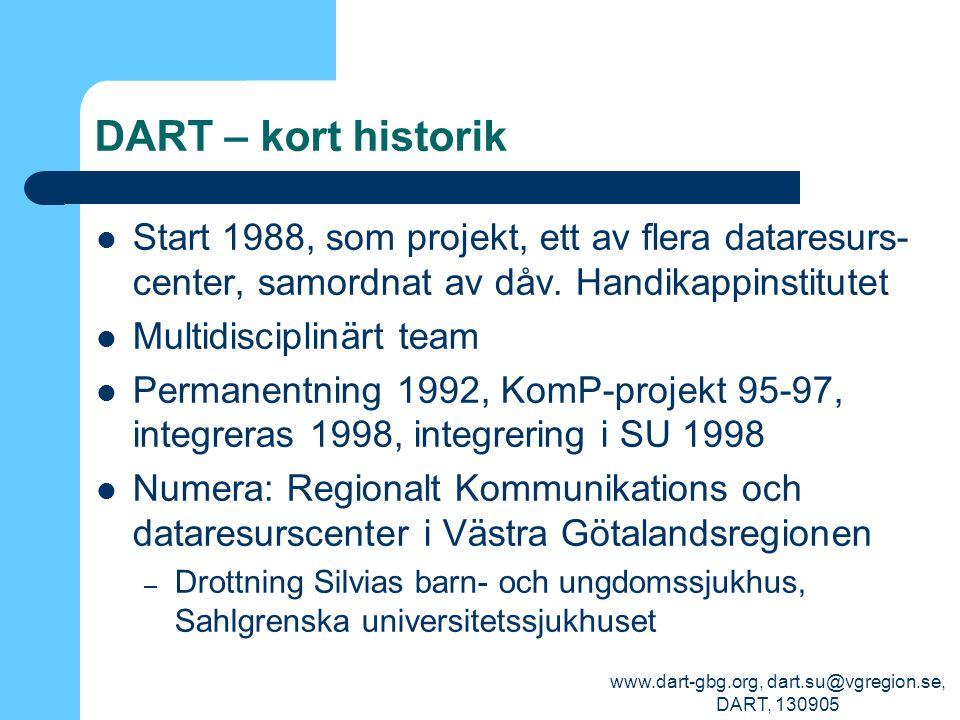 www.dart-gbg.org, dart.su@vgregion.se, DART, 130905