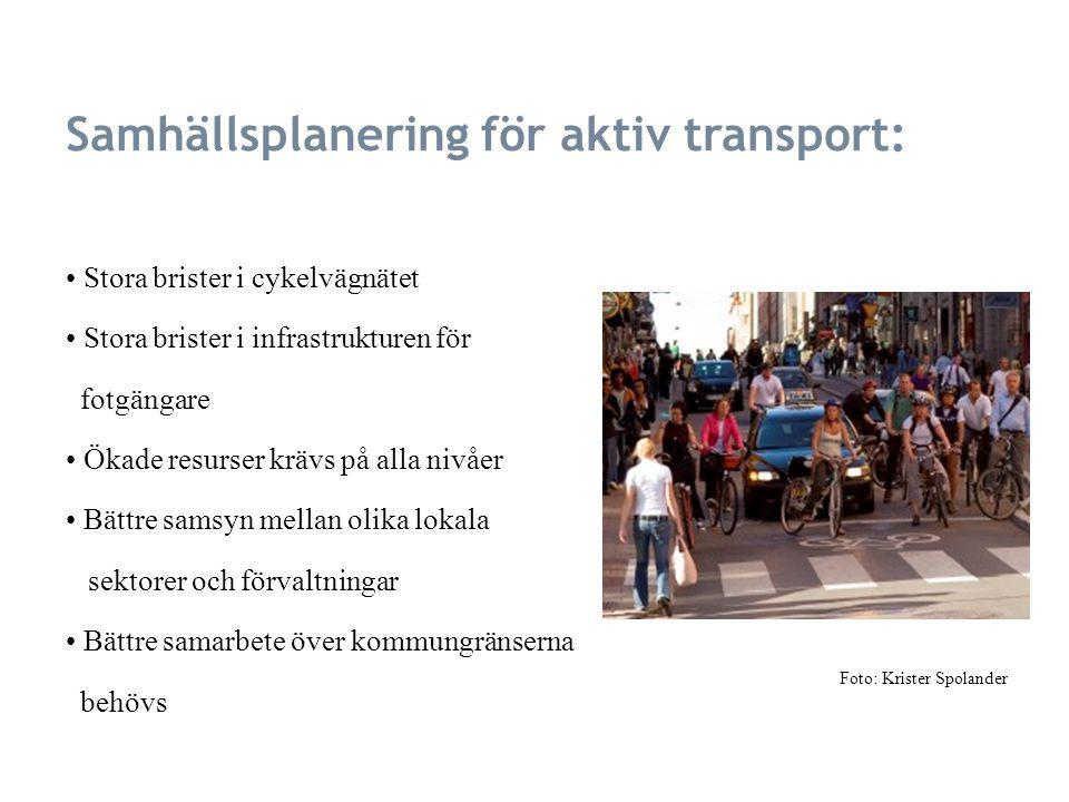 Samhällsplanering för aktiv transport: