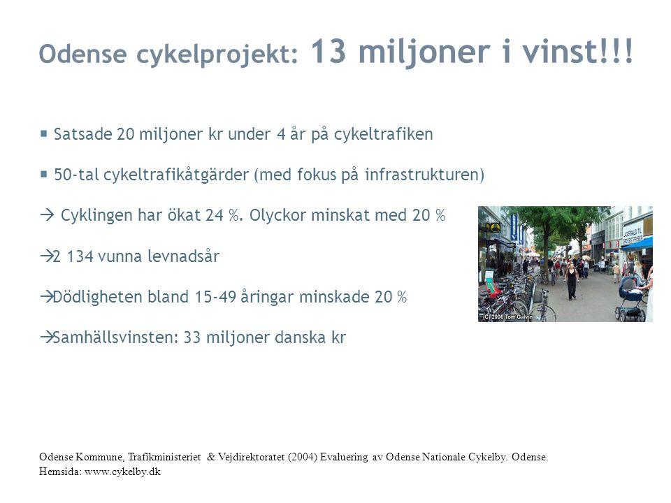 Odense cykelprojekt: 13 miljoner i vinst!!!