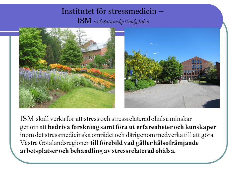 Institutet för stressmedicin – ISM vid Botaniska Trädgården