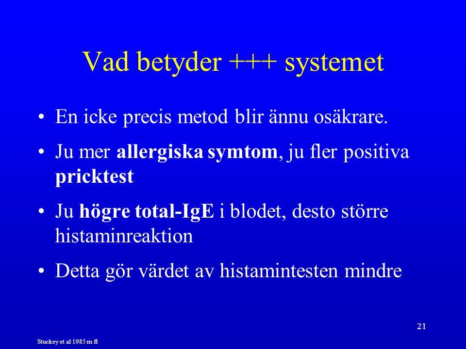 Vad betyder +++ systemet