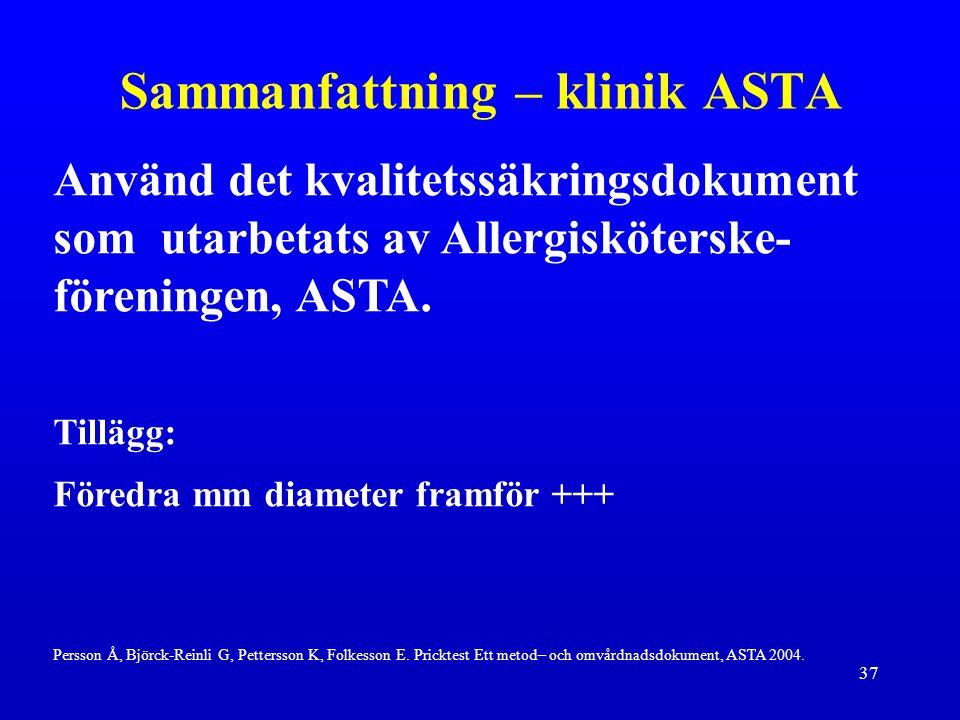 Sammanfattning – klinik ASTA