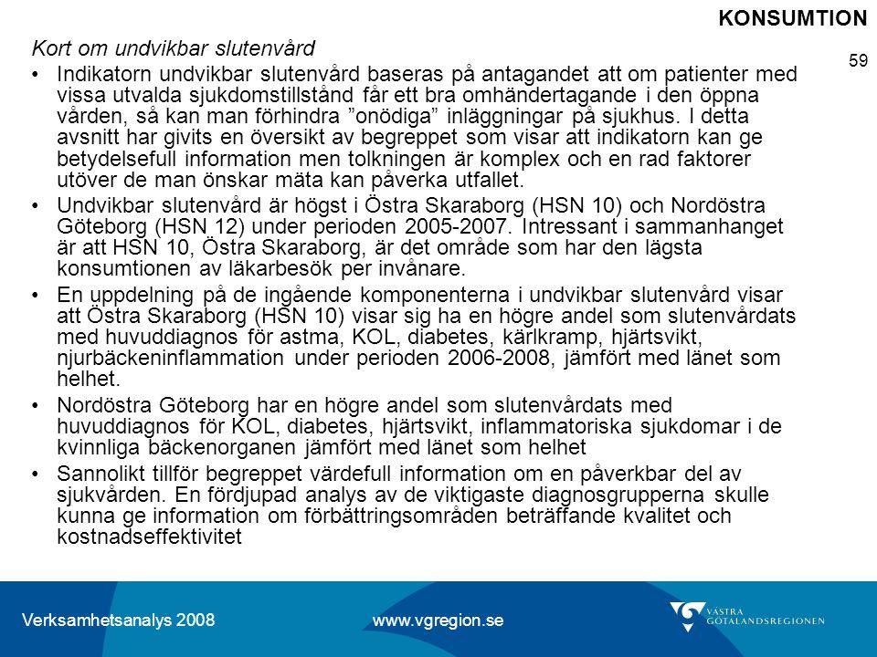 KONSUMTION Kort om undvikbar slutenvård.