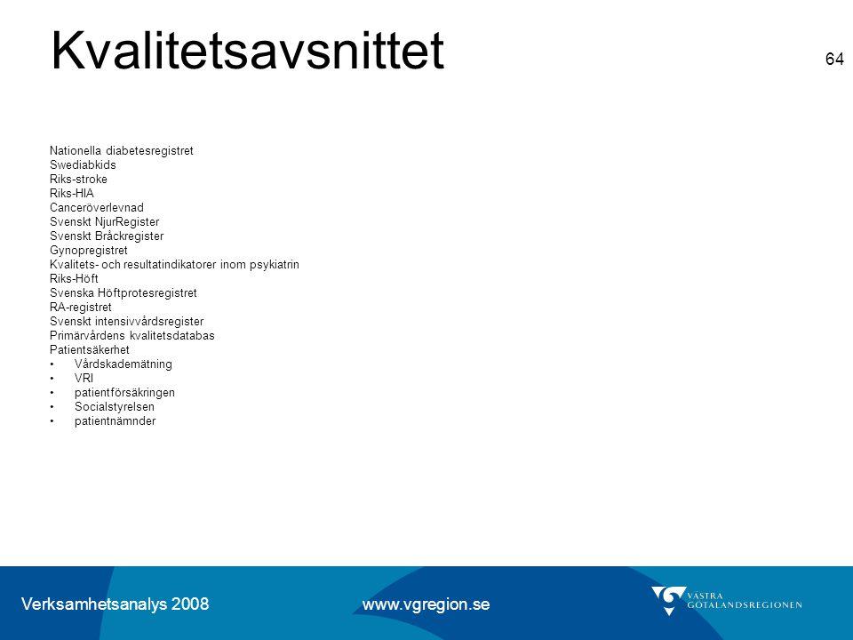Kvalitetsavsnittet Nationella diabetesregistret Swediabkids