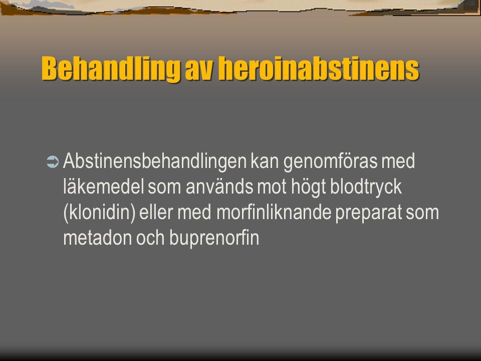 Behandling av heroinabstinens