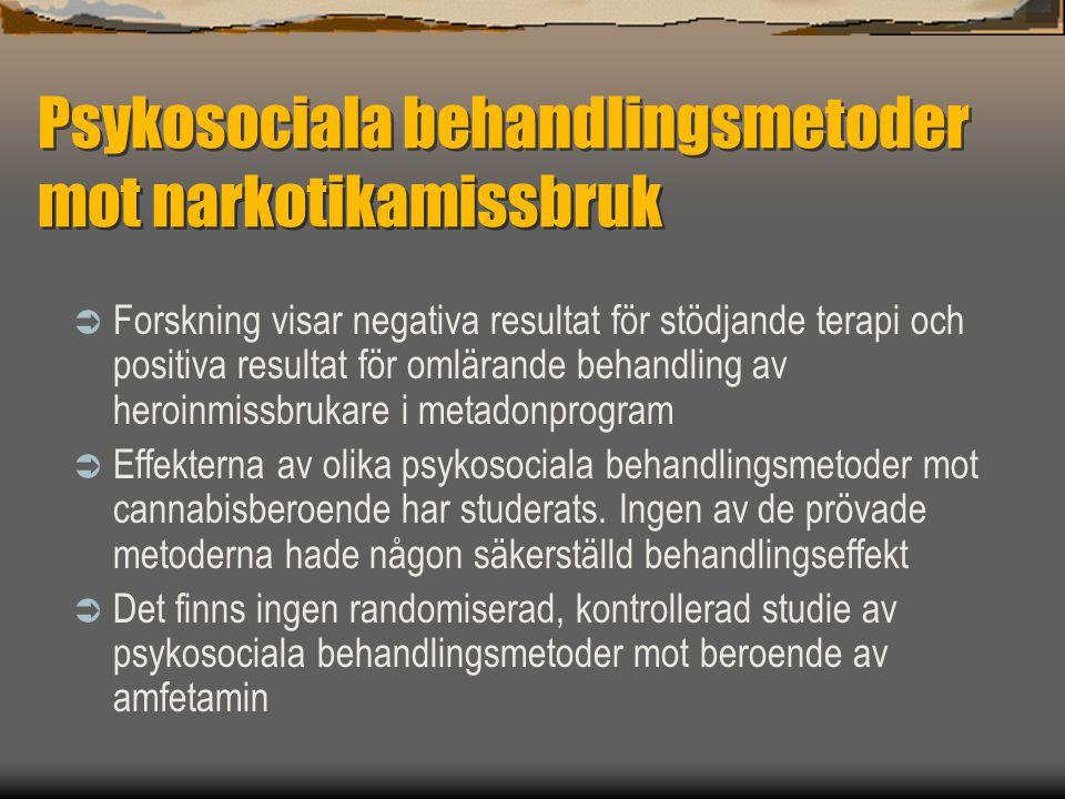 Psykosociala behandlingsmetoder mot narkotikamissbruk