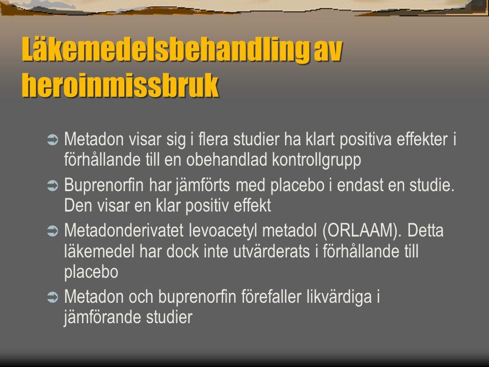 Läkemedelsbehandling av heroinmissbruk