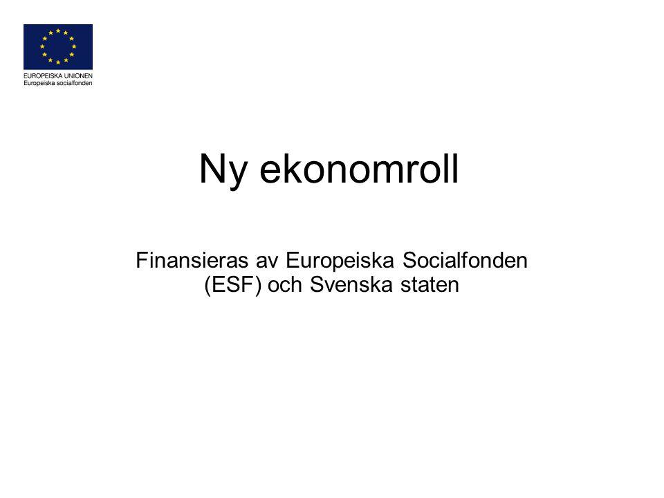 Finansieras av Europeiska Socialfonden (ESF) och Svenska staten