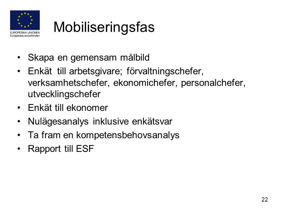 Mobiliseringsfas Skapa en gemensam målbild