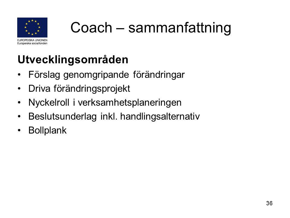 Coach – sammanfattning