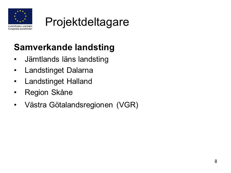 Projektdeltagare Samverkande landsting Jämtlands läns landsting