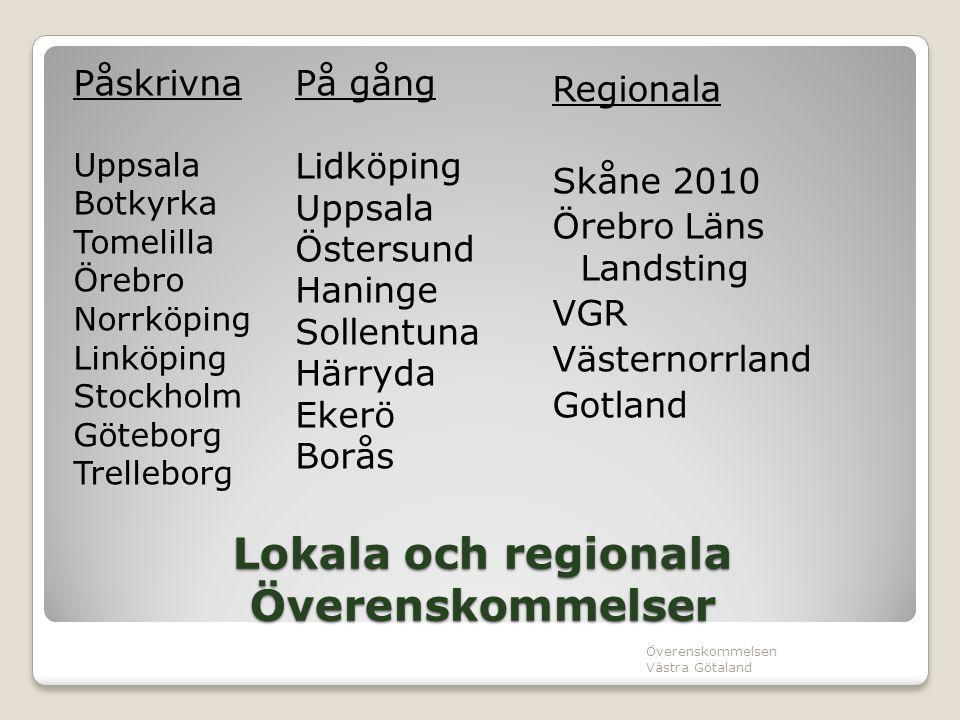 Lokala och regionala Överenskommelser