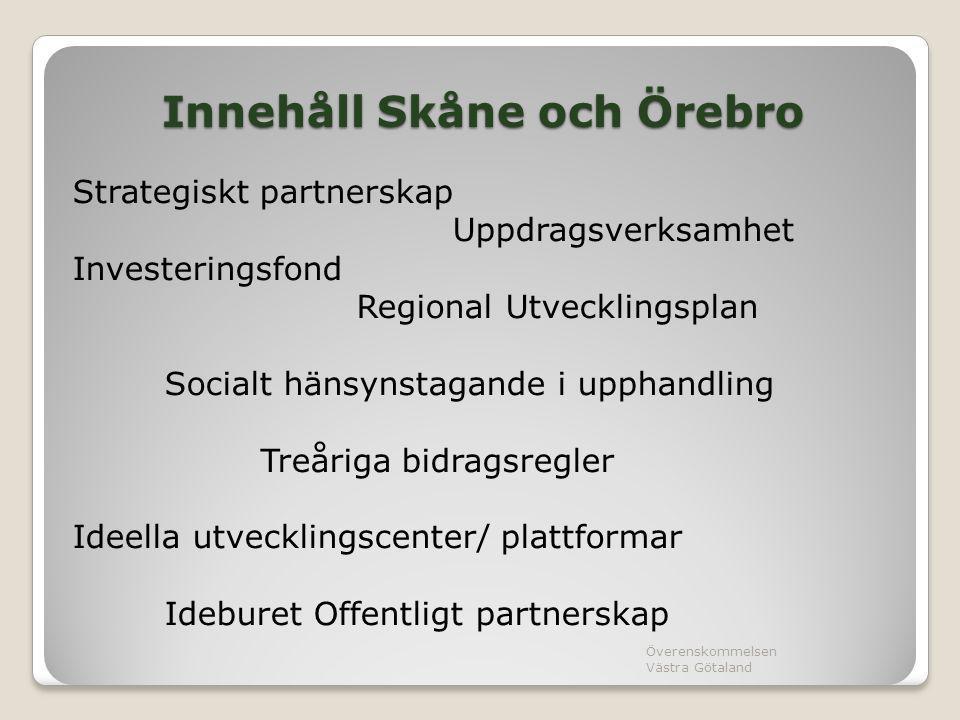Innehåll Skåne och Örebro