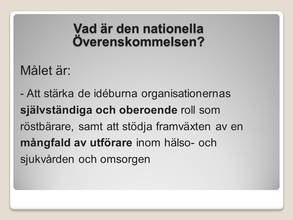 Vad är den nationella Överenskommelsen