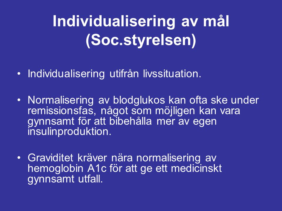Individualisering av mål (Soc.styrelsen)