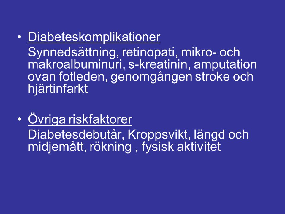Diabeteskomplikationer