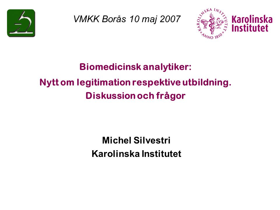 Biomedicinsk analytiker: