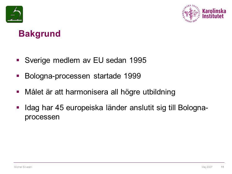 Bakgrund Sverige medlem av EU sedan 1995