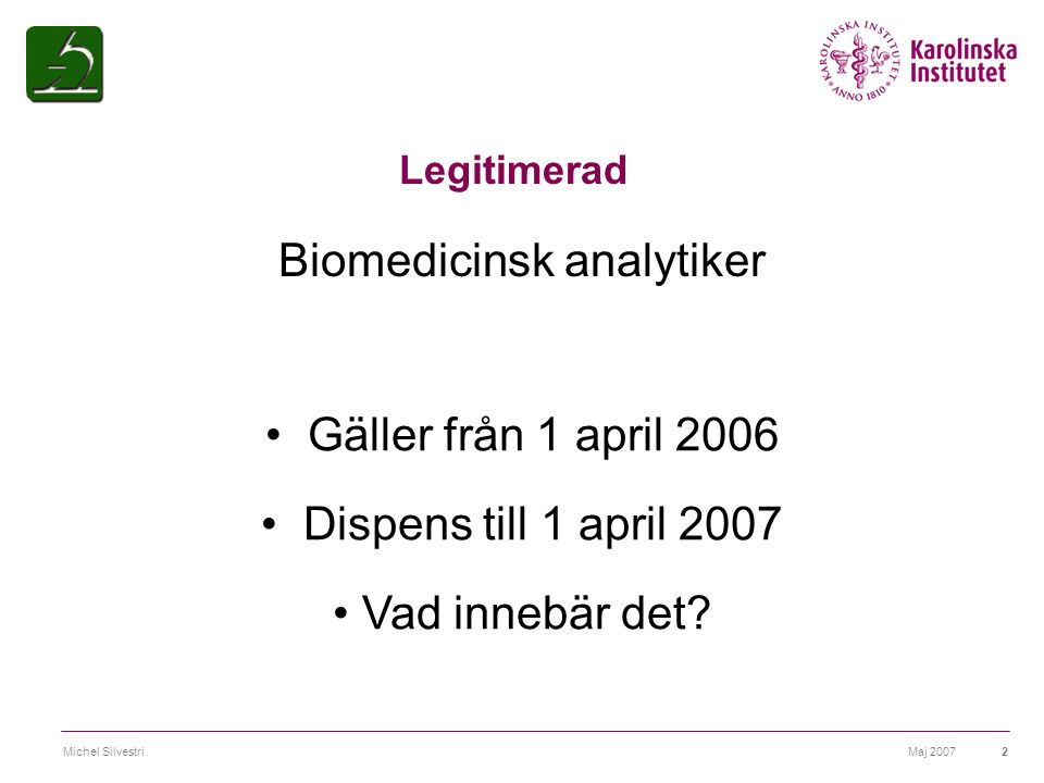 Biomedicinsk analytiker