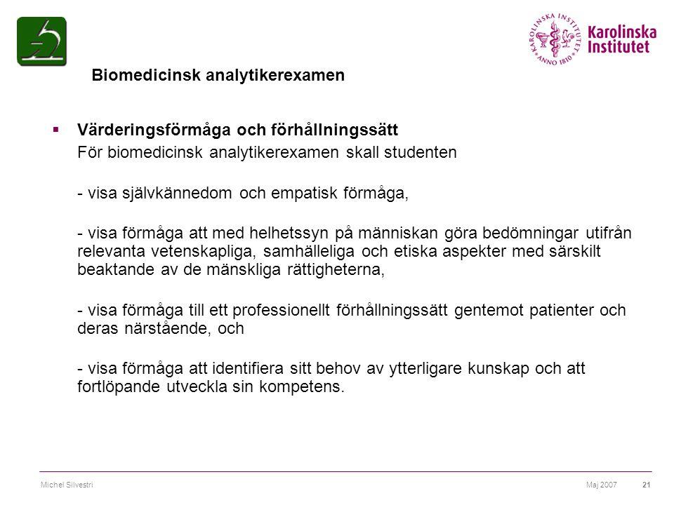 Biomedicinsk analytikerexamen