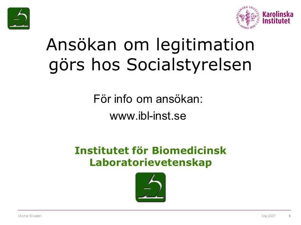 Institutet för Biomedicinsk Laboratorievetenskap