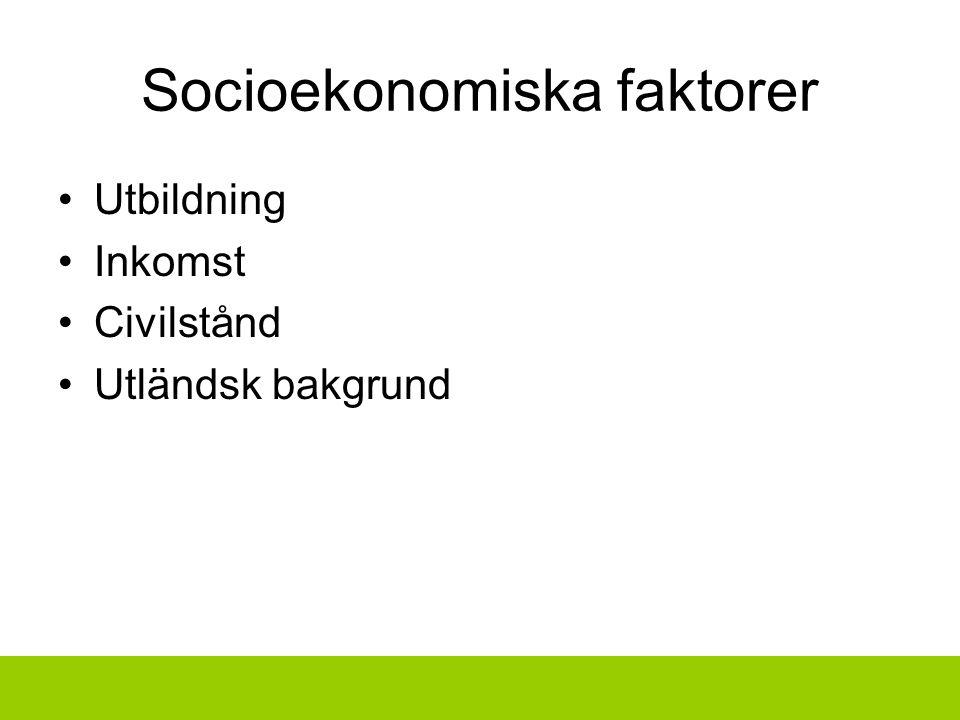 Socioekonomiska faktorer