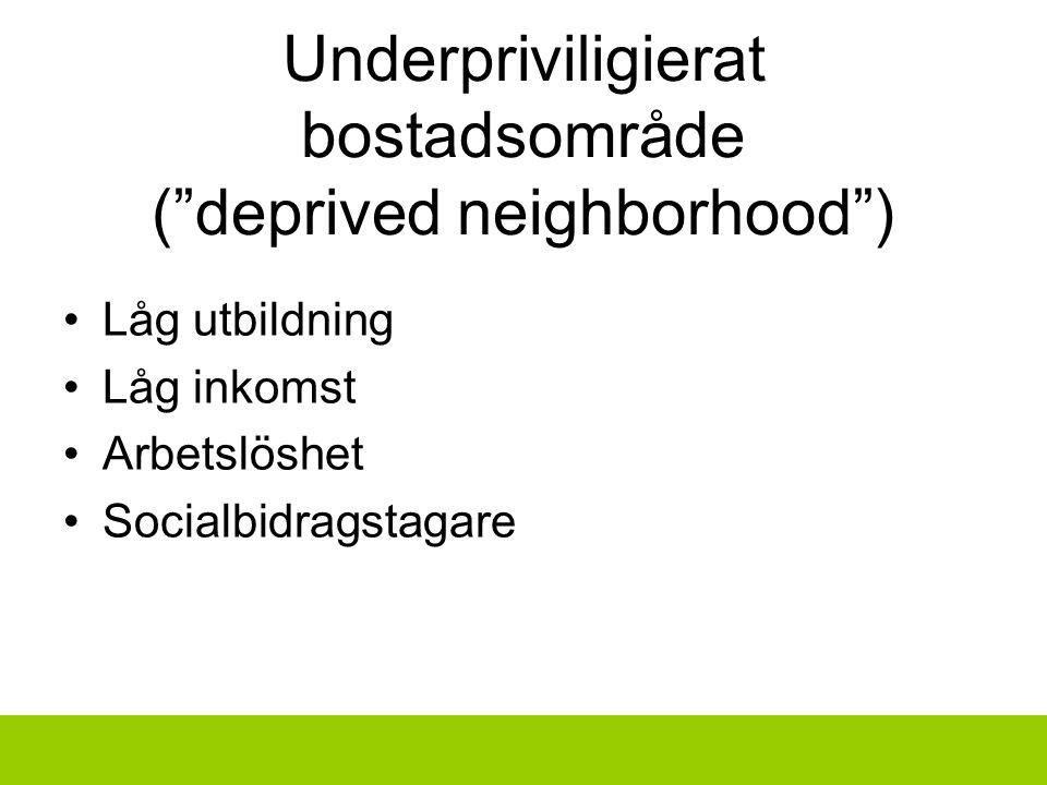 Underpriviligierat bostadsområde ( deprived neighborhood )