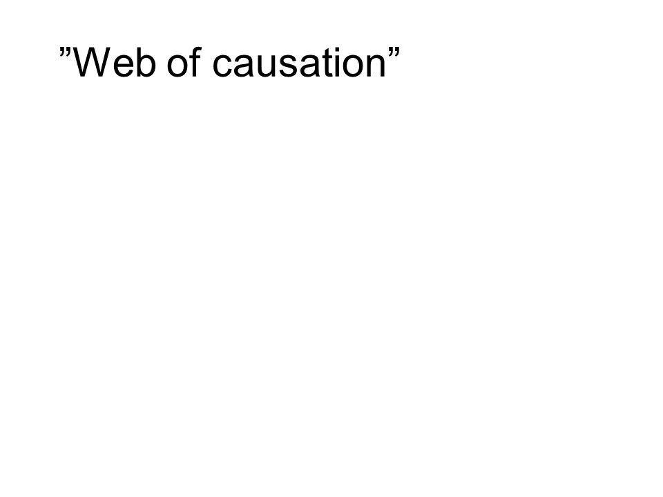 Web of causation