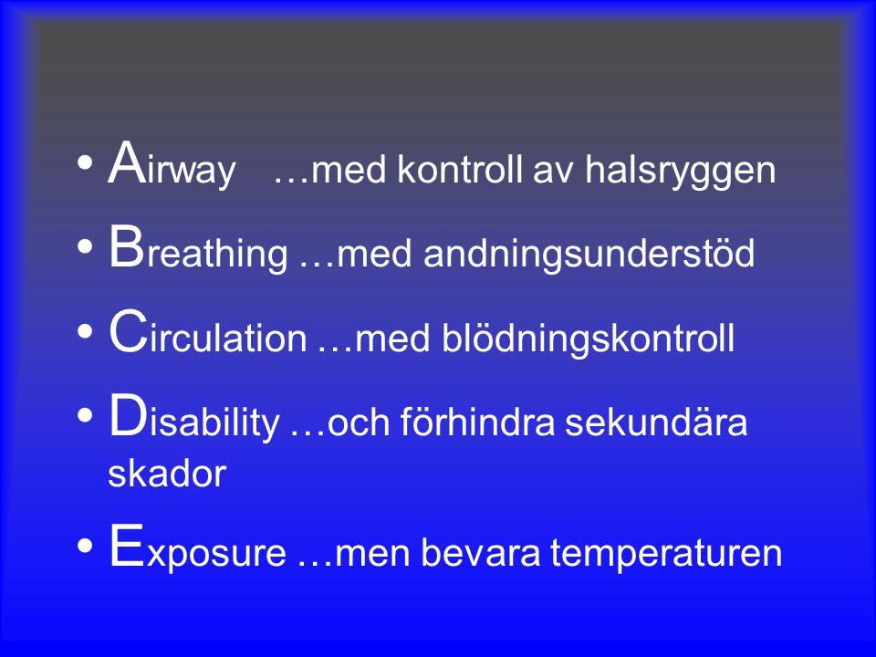 Airway …med kontroll av halsryggen