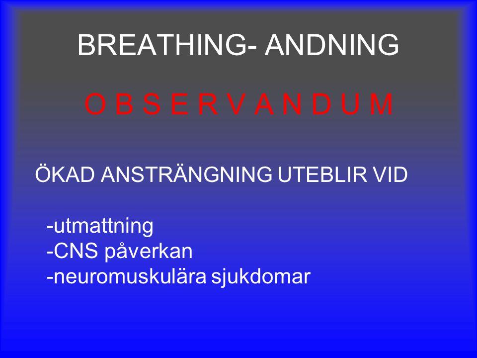 BREATHING- ANDNING O B S E R V A N D U M