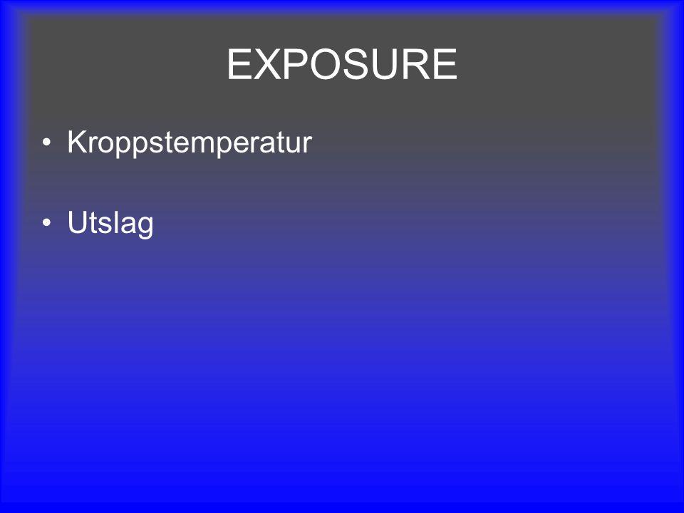 EXPOSURE Kroppstemperatur Utslag