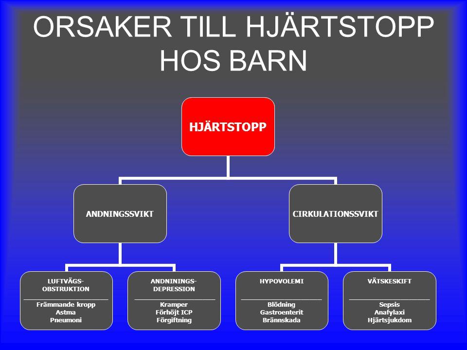 ORSAKER TILL HJÄRTSTOPP HOS BARN