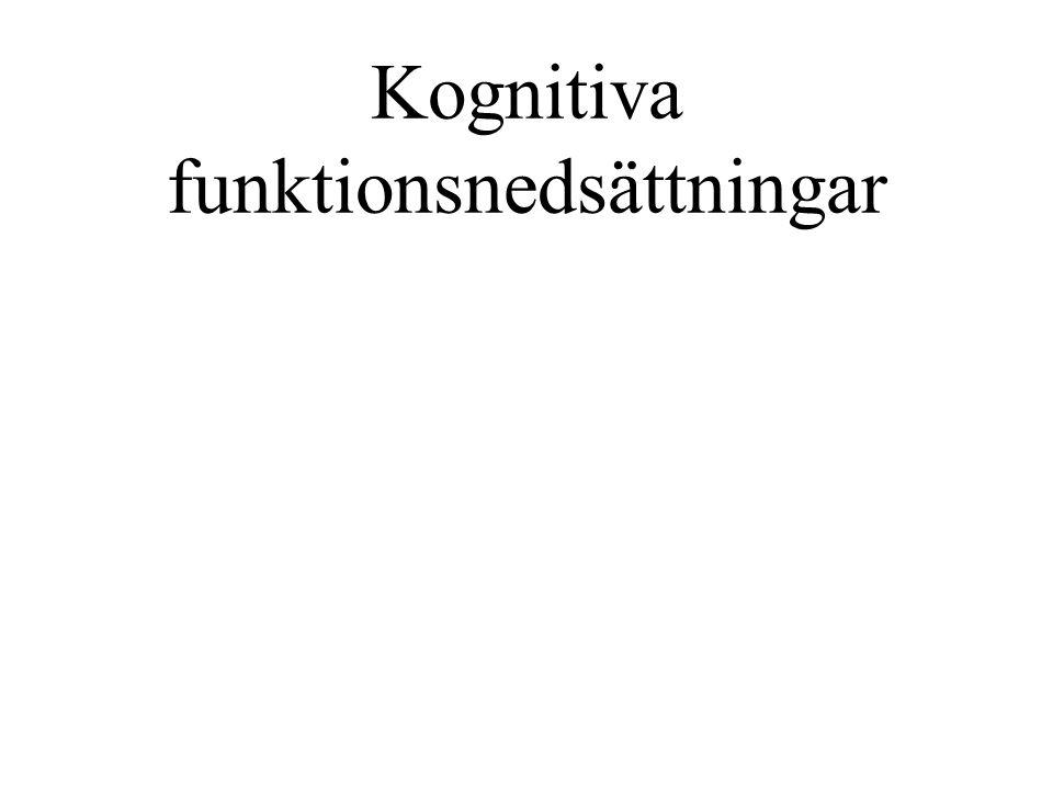 Kognitiva funktionsnedsättningar