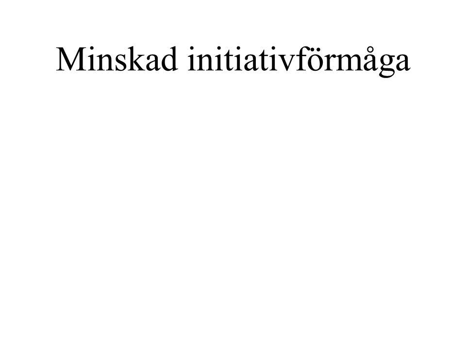 Minskad initiativförmåga