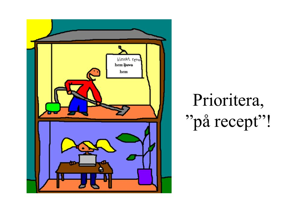 Prioritera, på recept !
