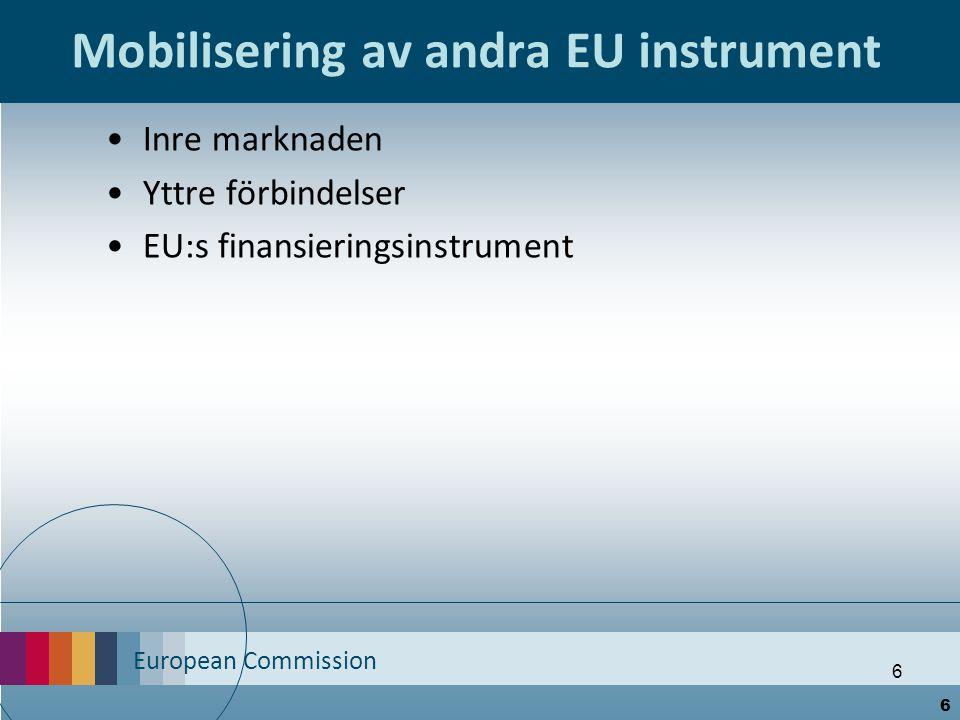 Mobilisering av andra EU instrument