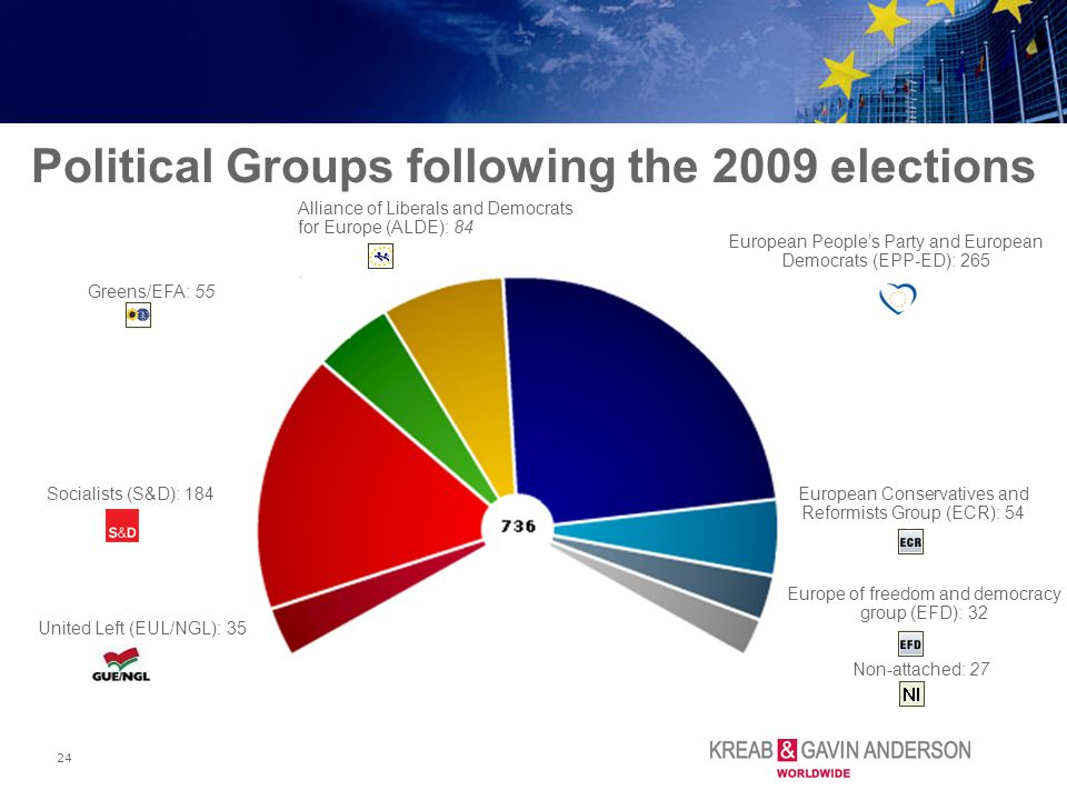 Political Groups following the 2009 elections