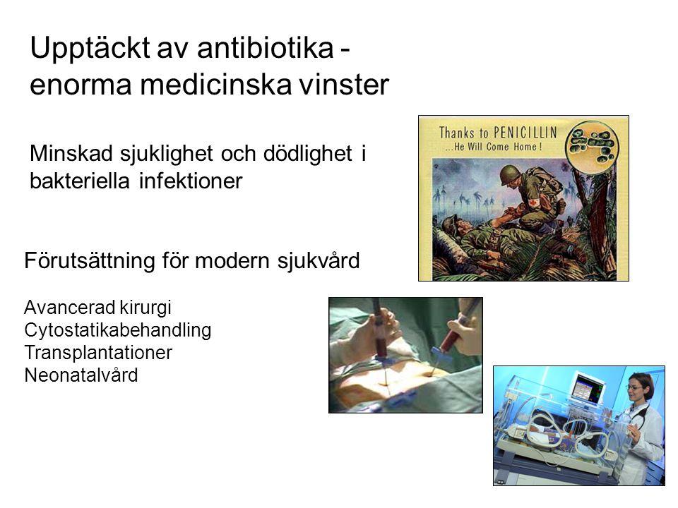 Upptäckt av antibiotika - enorma medicinska vinster