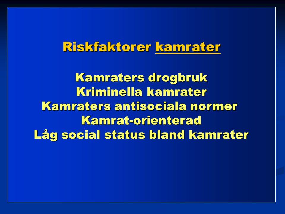 Riskfaktorer kamrater