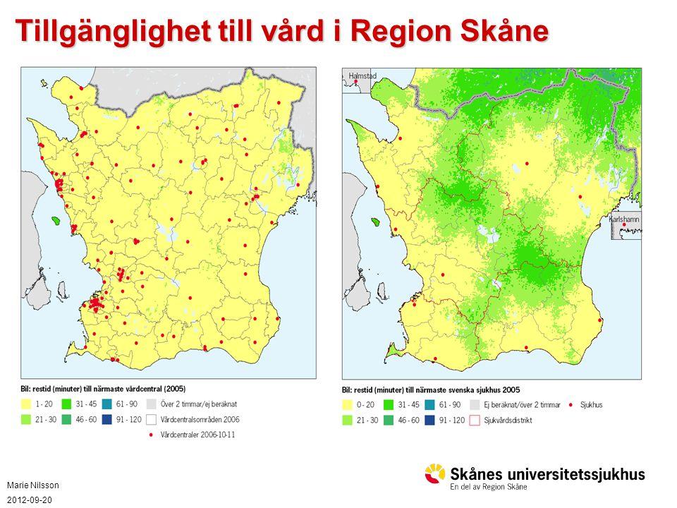 Tillgänglighet till vård i Region Skåne