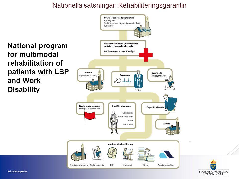 Nationella satsningar: Rehabiliteringsgarantin